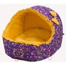 """Лежак для животных Каскад """"Эстрада. Равенна"""", цвет: фиолетовый, желтый, 38 х 41 х 38 см"""