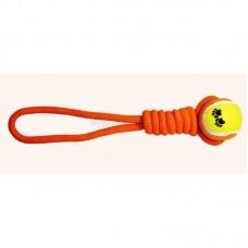 """Triol Игрушка для собак """"Веревка-канат, узел и мяч"""", 350мм"""