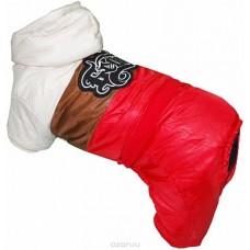 Pet's INN, комбинезон для собак цвет: красный, бежевый, коричневый. . Размер S