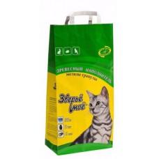Зверье мое Наполнитель для кошачьего туалета, древесный, впитывающий, мелкие гранулы (9кг)