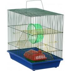 Клетка для грызунов Зоомарк 3-х этажная комплект 135Ж 36х24х38 см