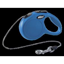 Flexi CLASSIC рулетка XS 8кг трос 3м синяя