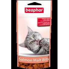 Beaphar Malt-Bits подушечки для кошек с лососем и мальт-пастой, 35г.