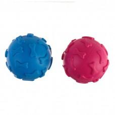 Пижон игрушка для собак резиновый мяч синий/розовый
