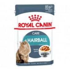 Royal Canin Hairball Care влажный корм для взрослых кошек в соусе 85г