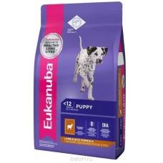 Eukanuba для щенков с чувствительным пищеварением с ягненком и рисом 1кг