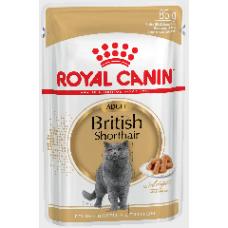 Royal Canin British Shorthair Adult влажный корм для кошек британской короткошерстной породы старше 12 месяцев 85г
