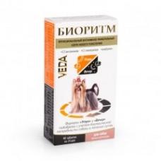 Veda БИОРИТМ функциональный витаминно-минеральный корм для собак малыхразмеров, 48 табл.