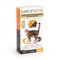 Veda БИОРИТМ функциональный витаминно-минеральный корм со вкусом курицы длякошек, 48 табл.