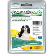 Merial Фронтлайн Комбо капли для собак весом от 2 до 10 кг от блох и клещей, 1 пипетка