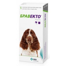 MSD Animal Health Бравекто таблетки для собак весом от 10 до 20 кг от блох и клещей, 1 шт.