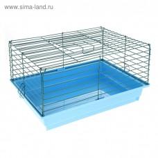 Клетка для кроликов № 1, 50 х 35 х 25 см микс цветов
