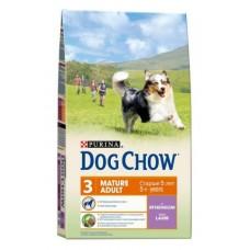 Dog Chow Mature Adult корм для собак старше 5 лет, с ягненком (14кг)