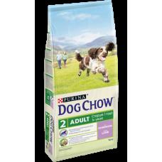 Dog Chow Adult корм для собак старше 1 года, с ягненком (14кг)